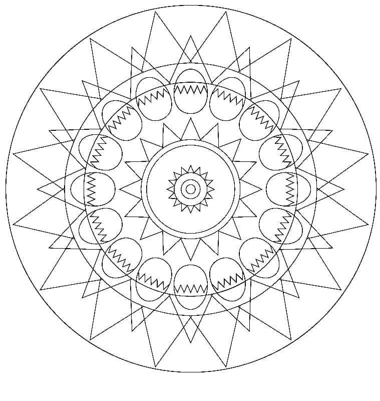 Cool Easter Mandala