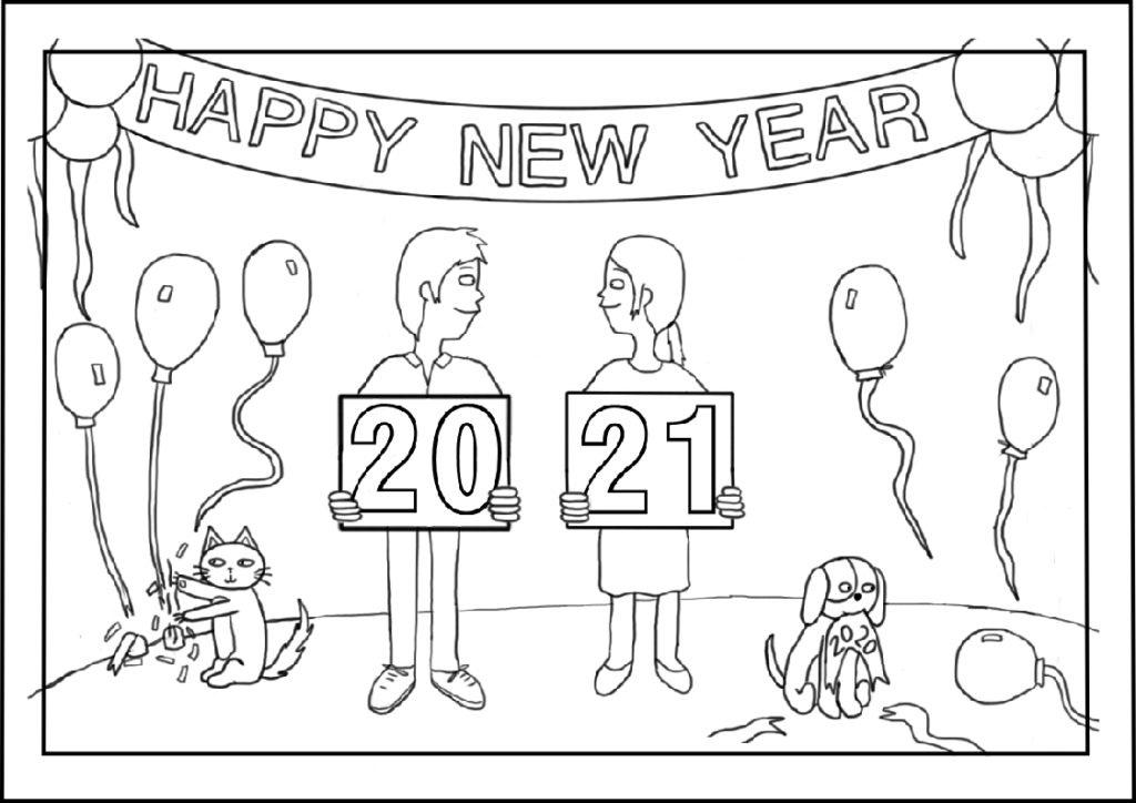 Couple Happy New Year 2021