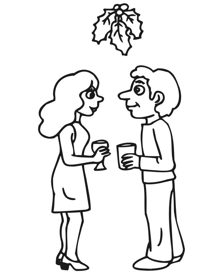 Couple Under The Mistletoe