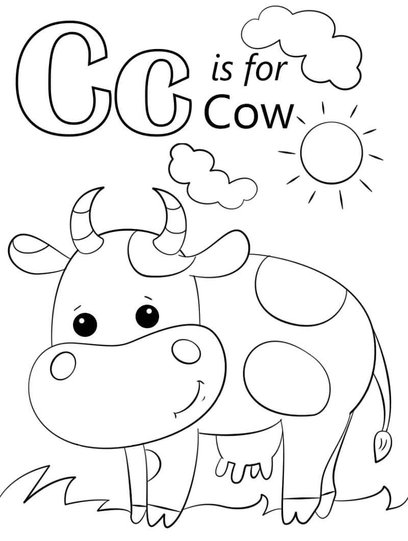 Cow Letter C