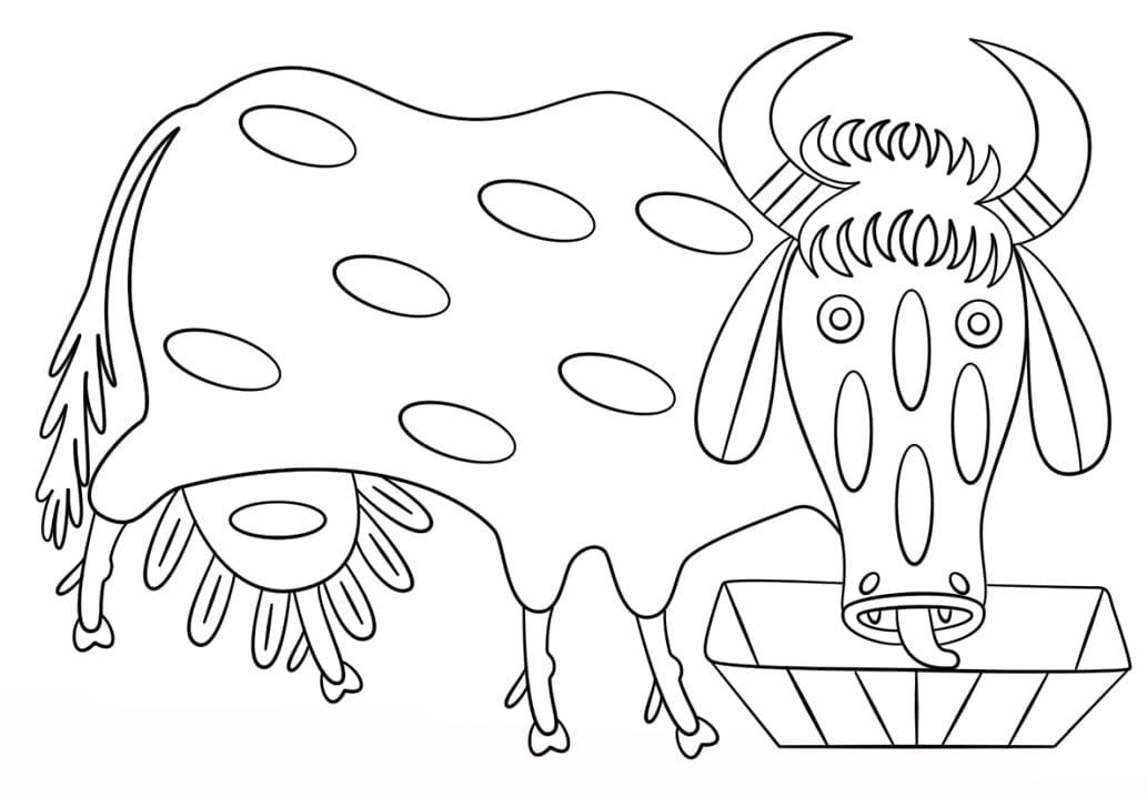 Cow by Maria Prymachenko