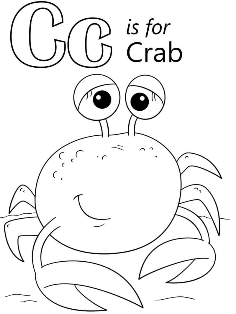 Crab Letter C