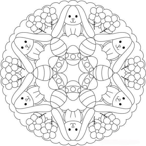 Cute Easter Mandala
