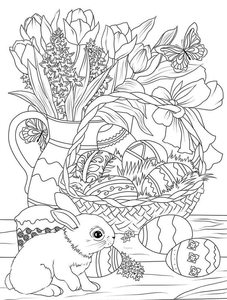 Decorated Easter Basket
