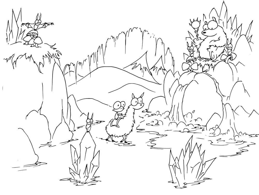 Desert Cartoon Scene