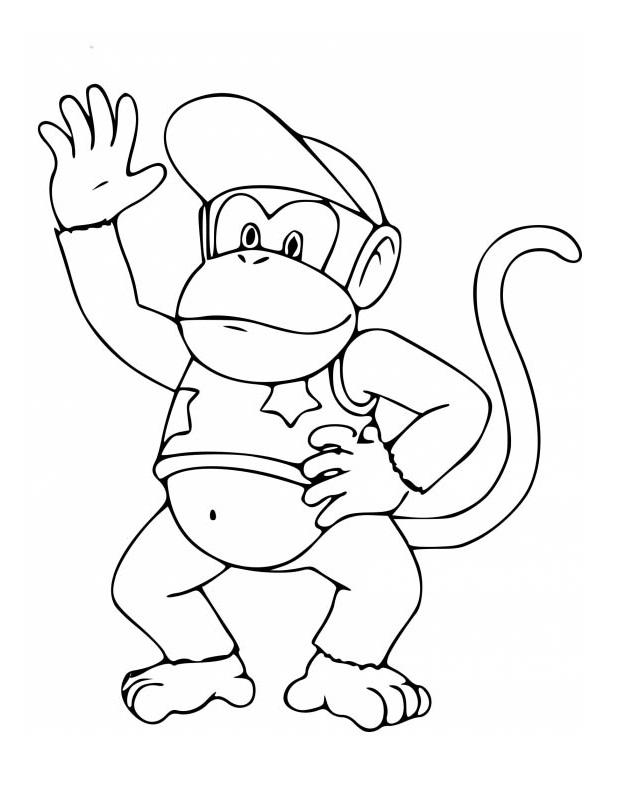 Diddy Kong Waving Hand