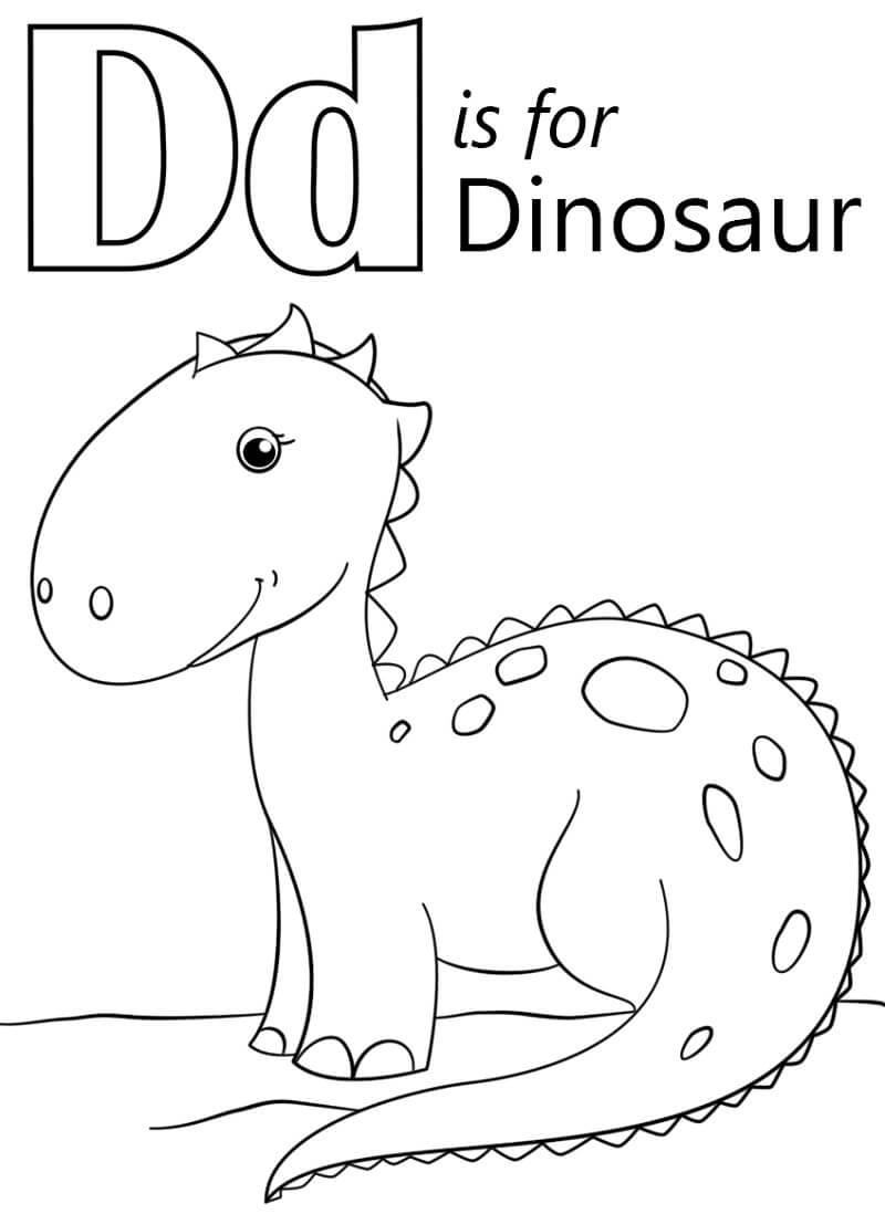 Dinosaur Letter D