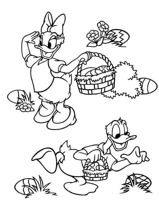 Donald Duck Easter Basket