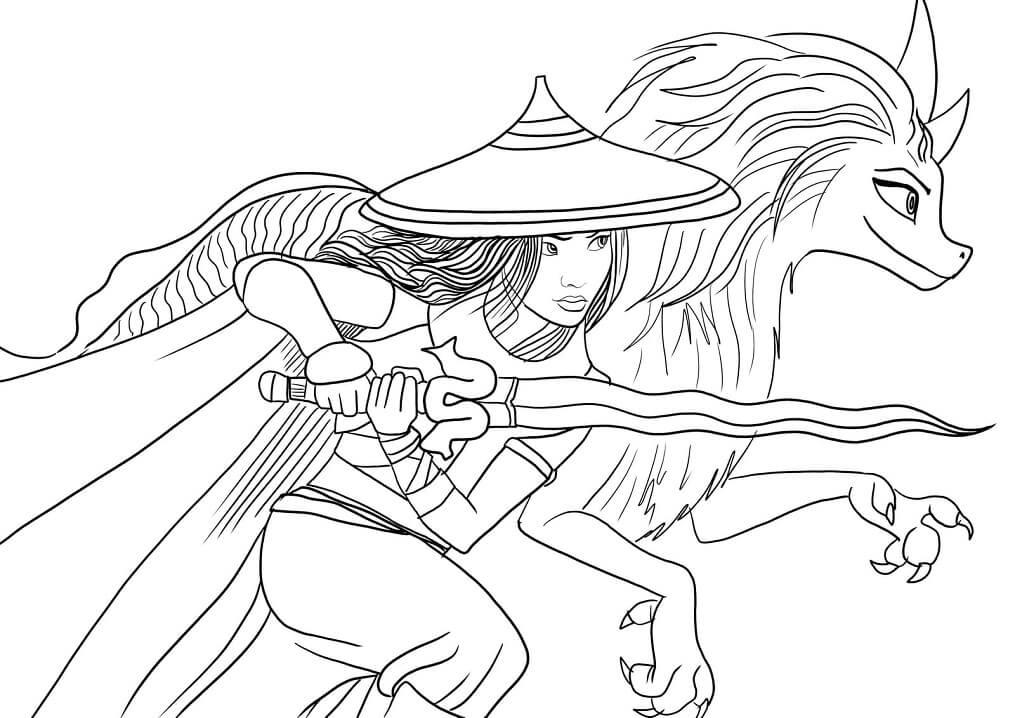 Dragon Sisu and Raya