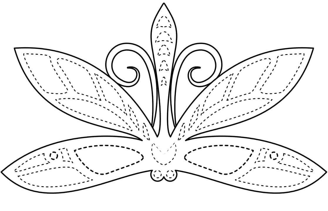 Dragonfly Mask Mardi Gras