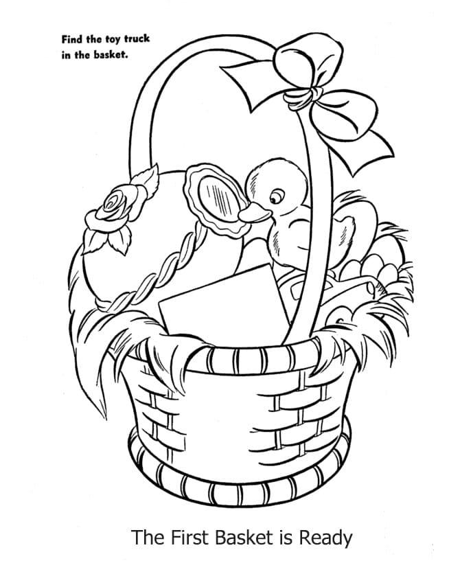 Duck in Easter Basket
