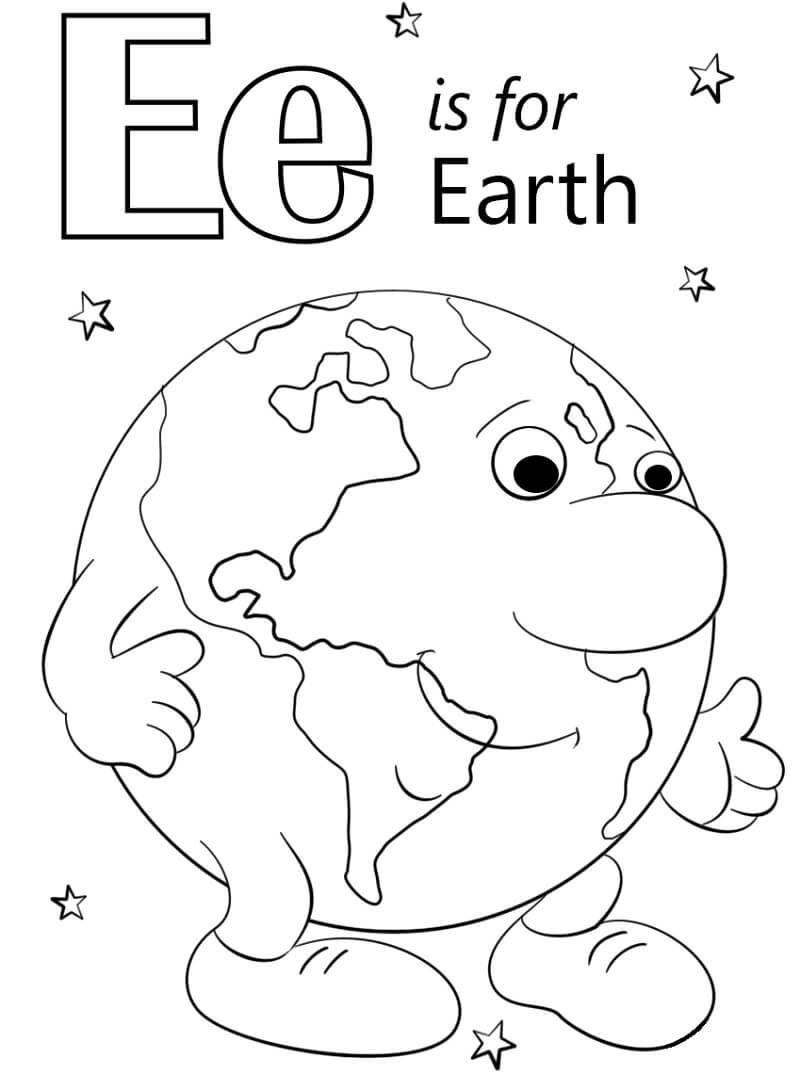 Earth Letter E