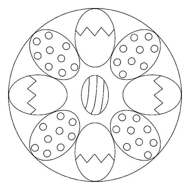 Easter Eggs Mandala 1