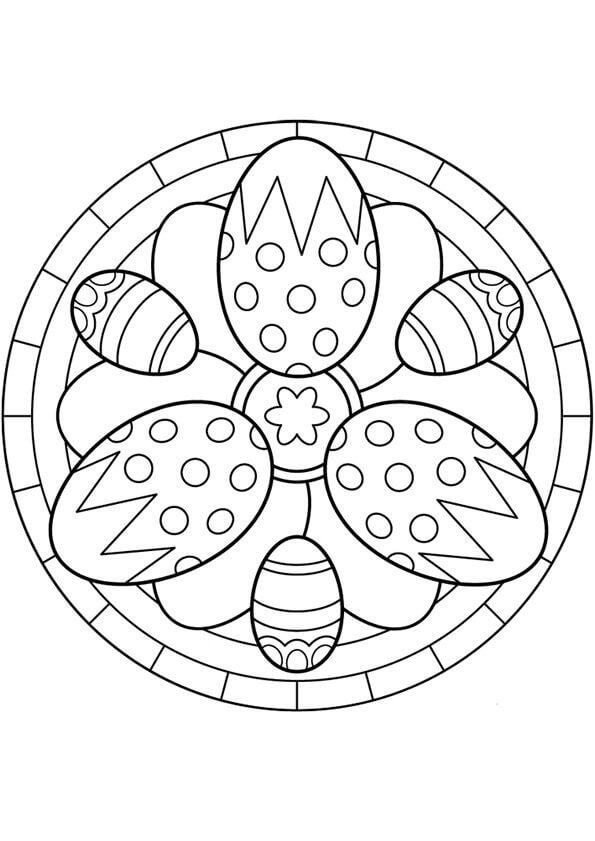 Easter Eggs Mandala
