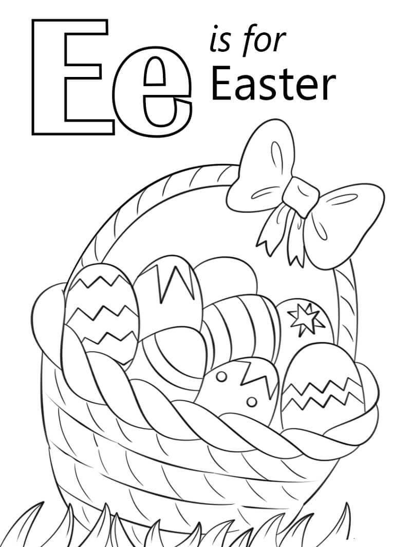 Easter Letter E