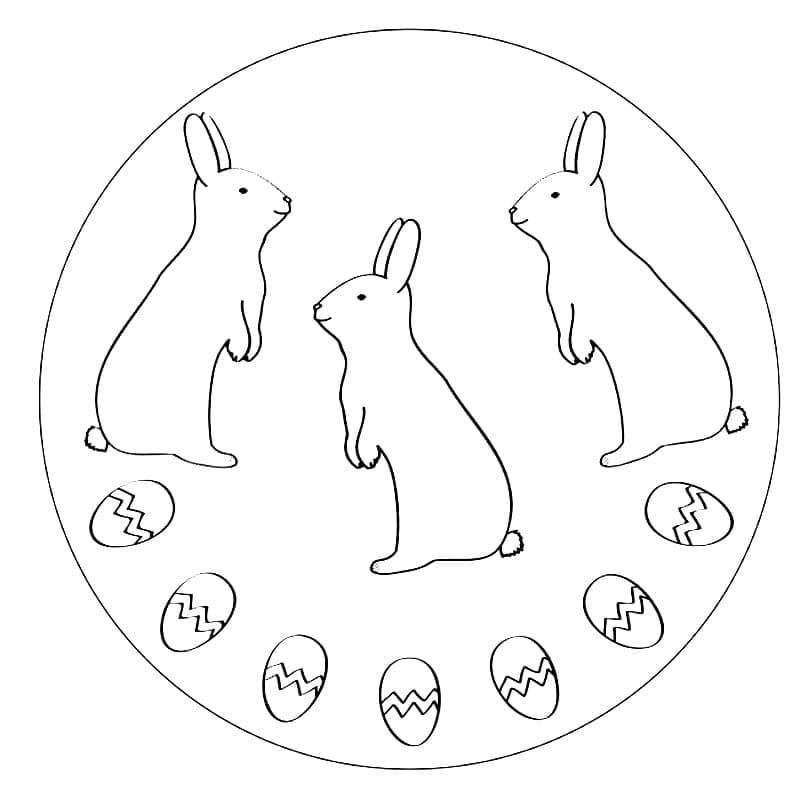 Easter Mandala Rabbits