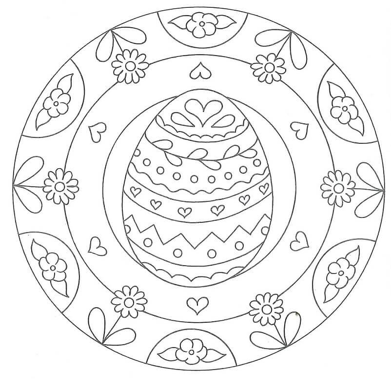 Easter Mandala with Egg
