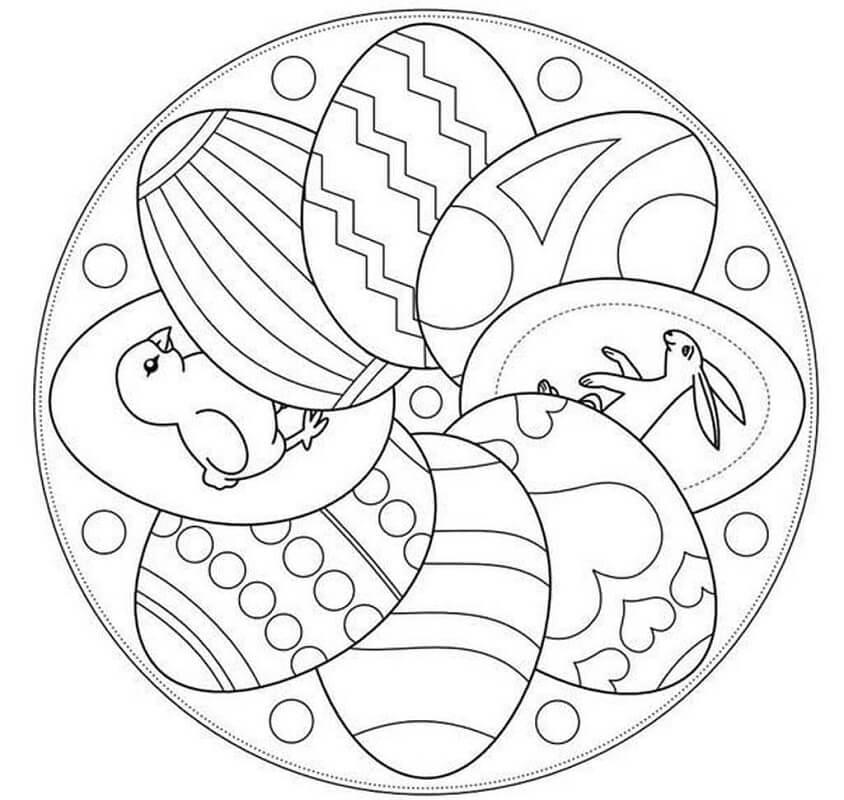 Easter Mandala with Eggs