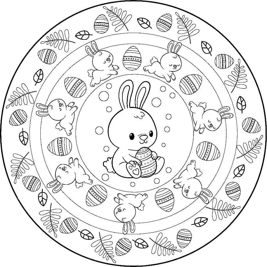 Easter Mandala with Little Bunny