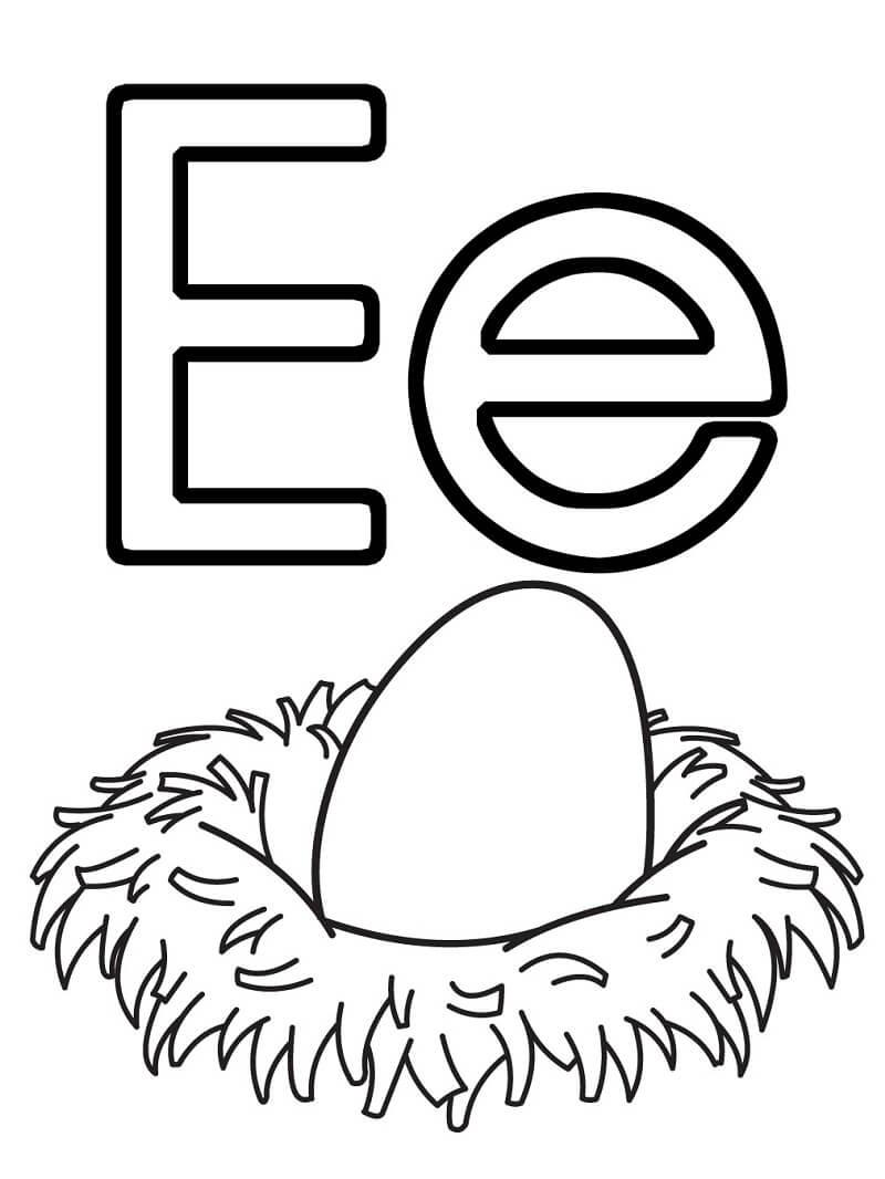 Egg Letter E