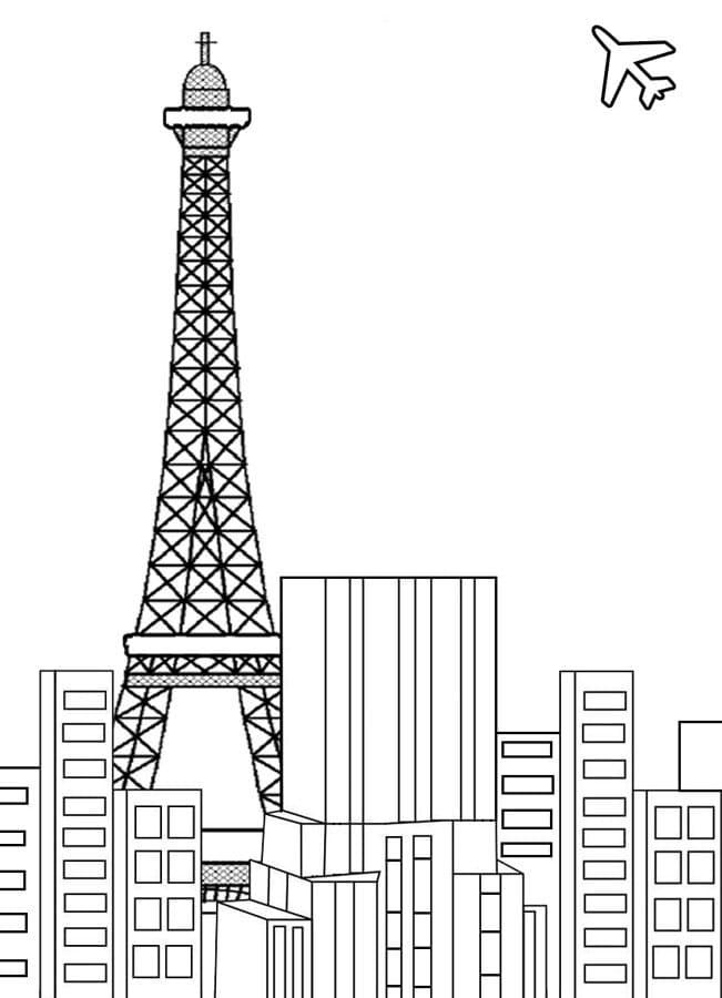 Eiffel Tower in City