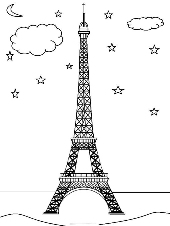 Eiffel Tower in Night