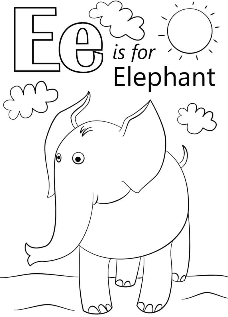 Elephant Letter E