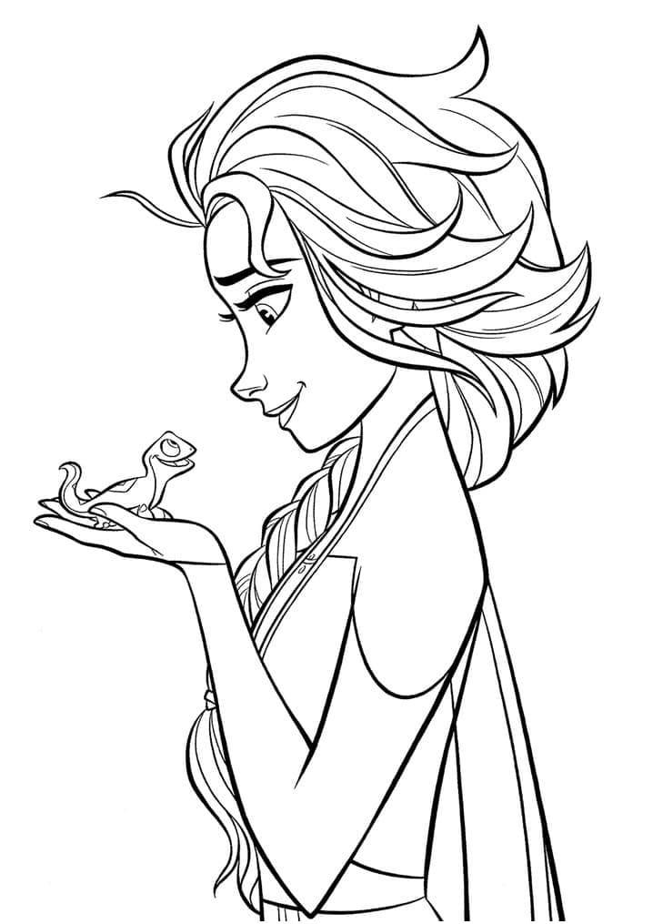 Elsa and Bruni Frozen 2