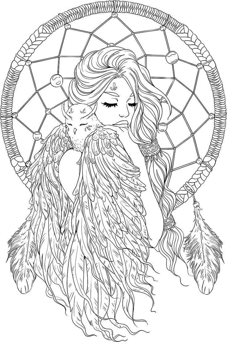 Fantasy Art coloring page