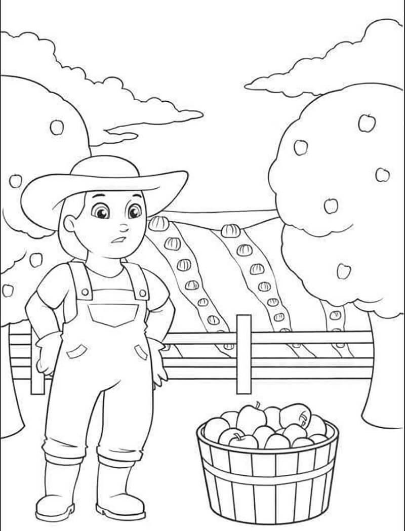 Farmer Yumi Harvesting