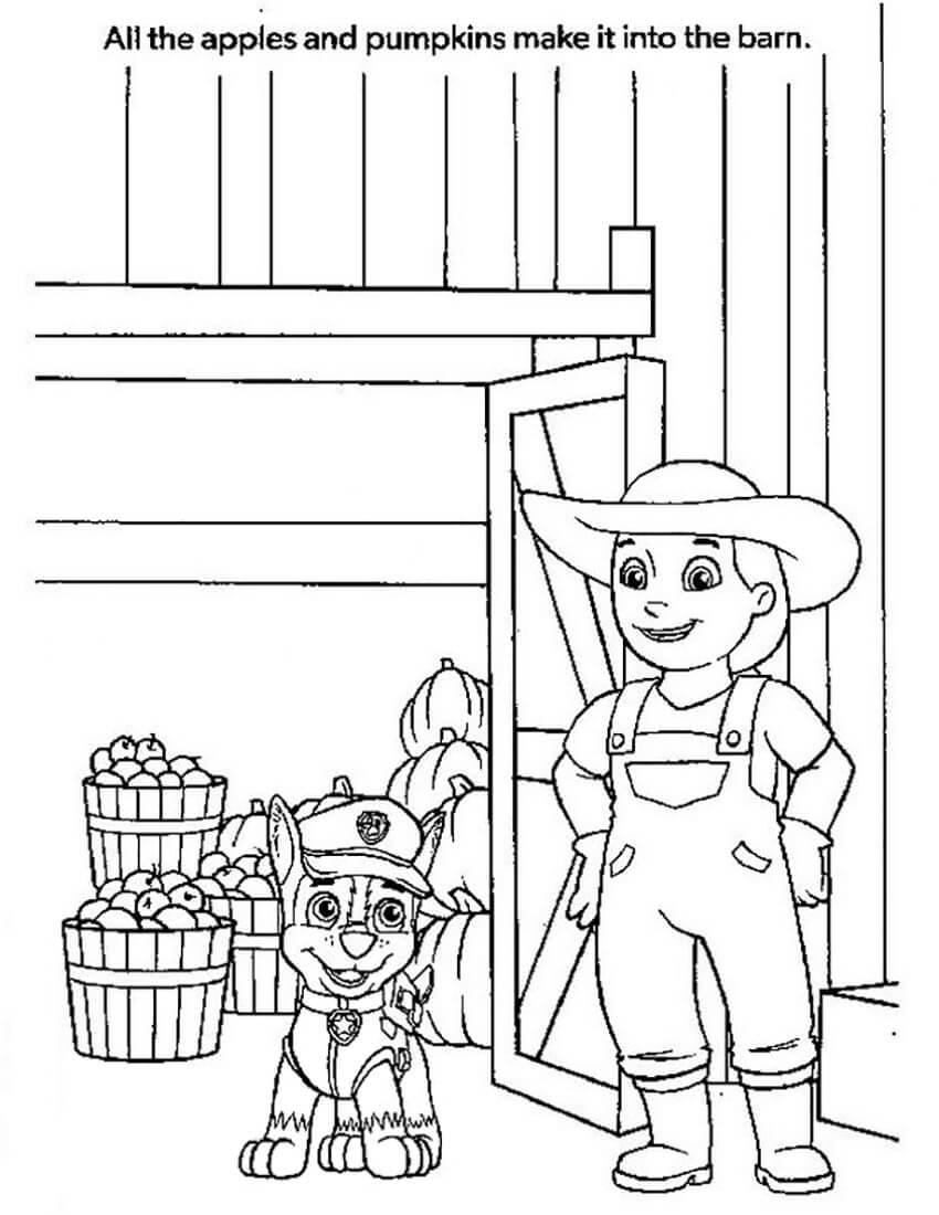 Farmer Yumi with Apple and Pumpkin