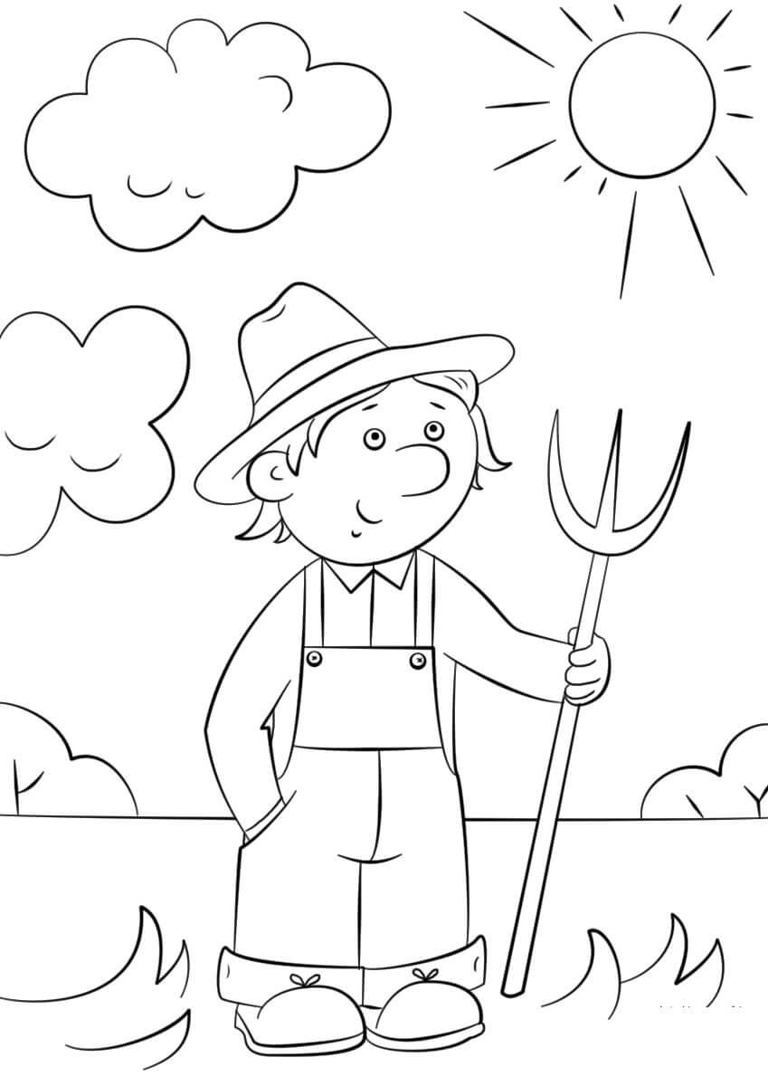 Farmer with Pitchfork