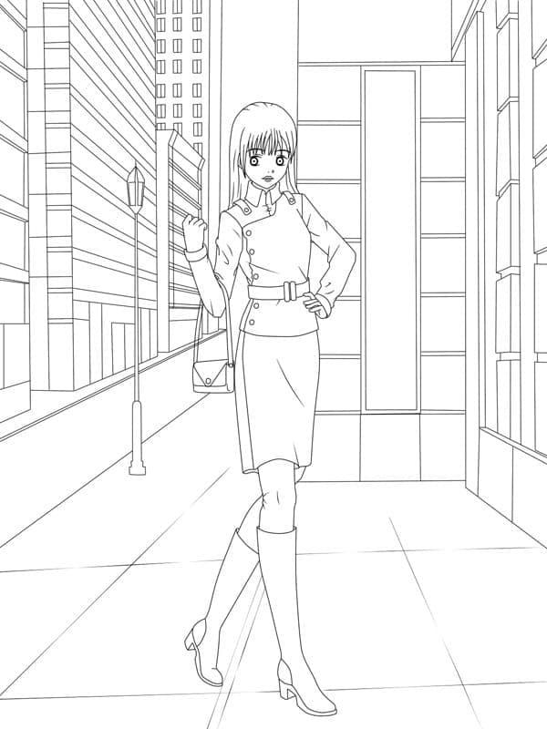 Fashionable Anime Girl