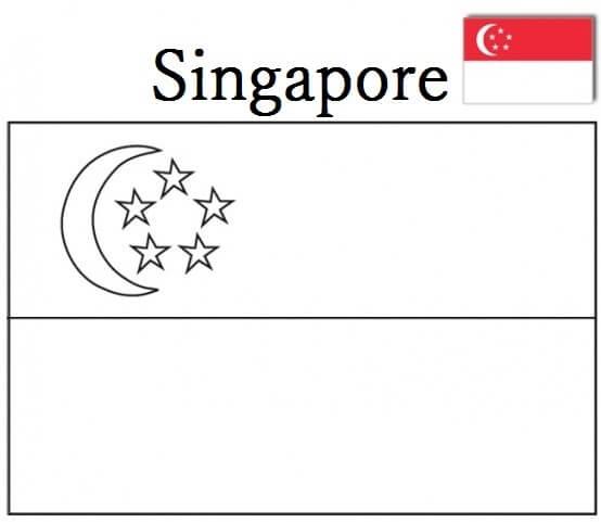 Flag of Singapore 2