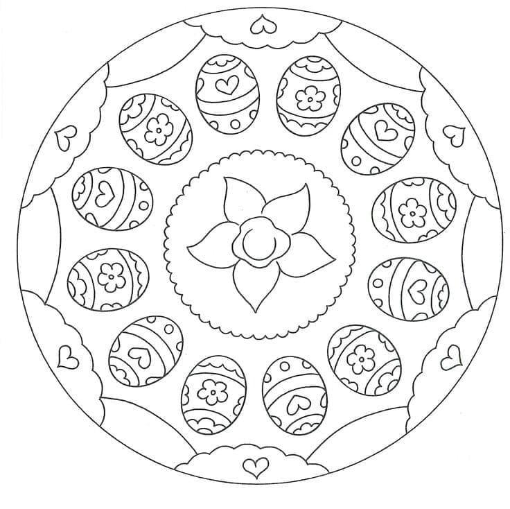 Flower Easter Mandala