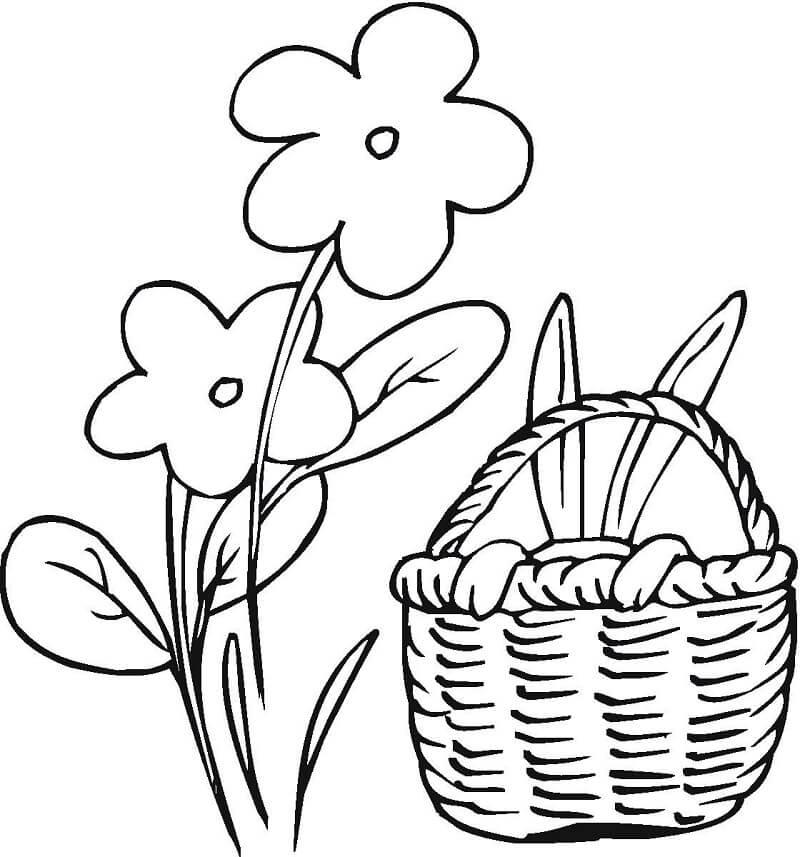 Flower with Easter Basket