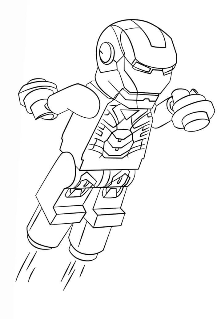 Flying Lego Iron Man