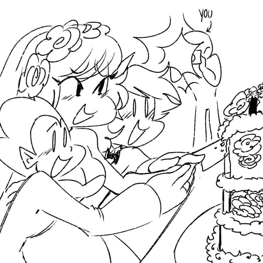 Friday Night Funkin Cutting Birthday Cake