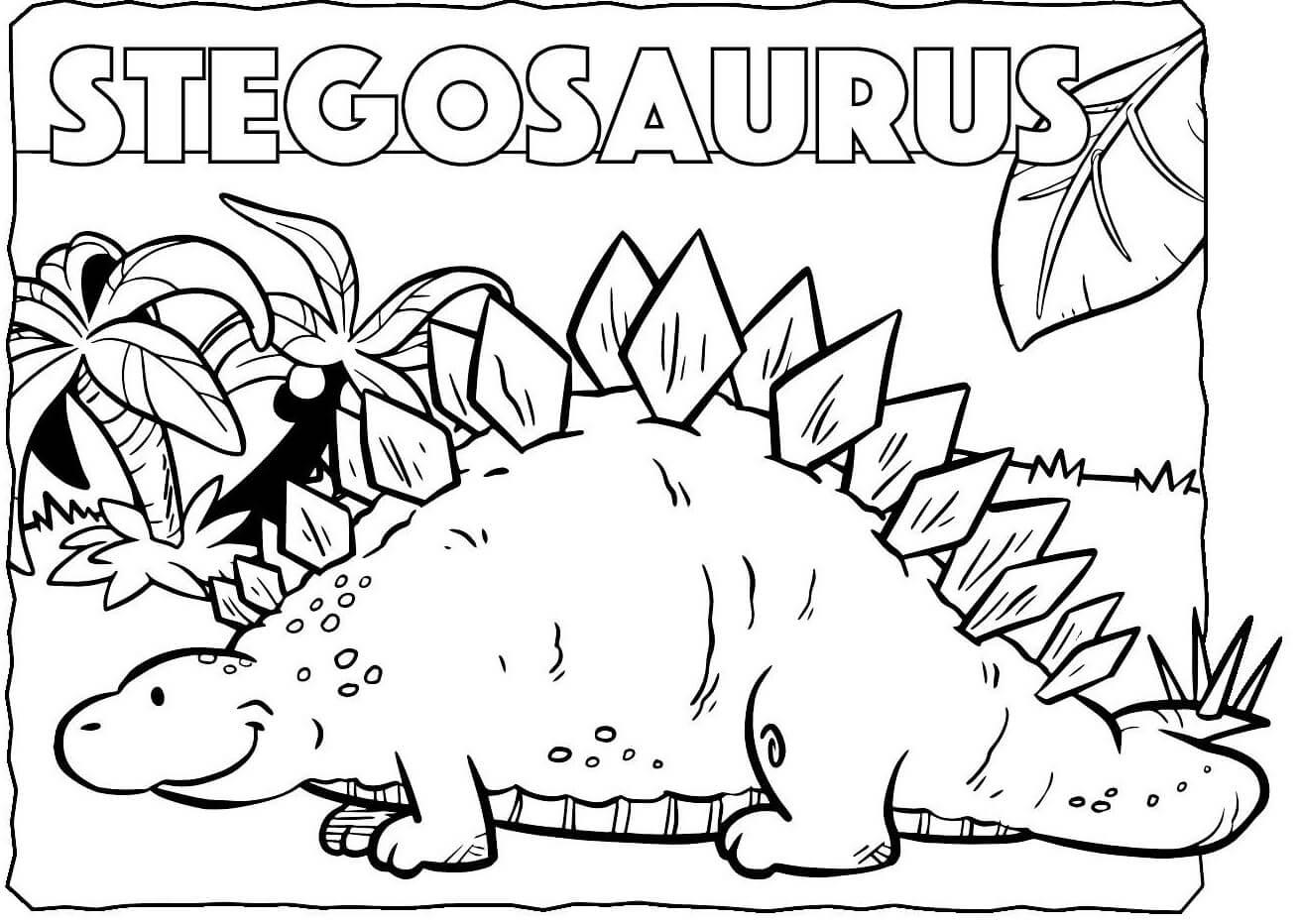 Funny Stegosaurus
