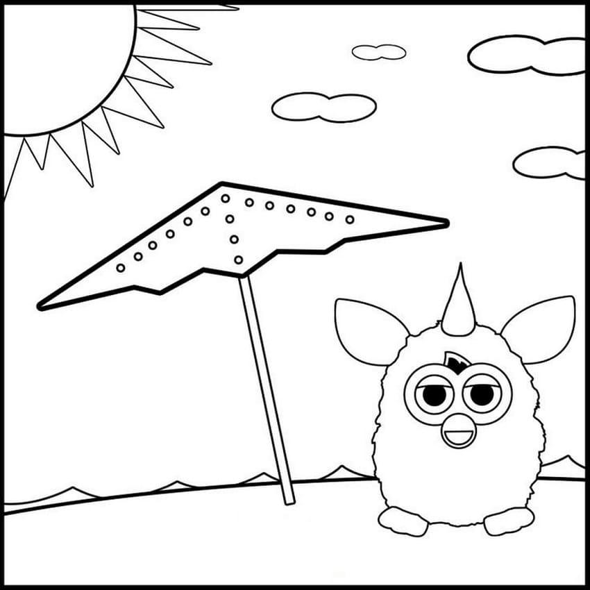 Furby Sunbathes