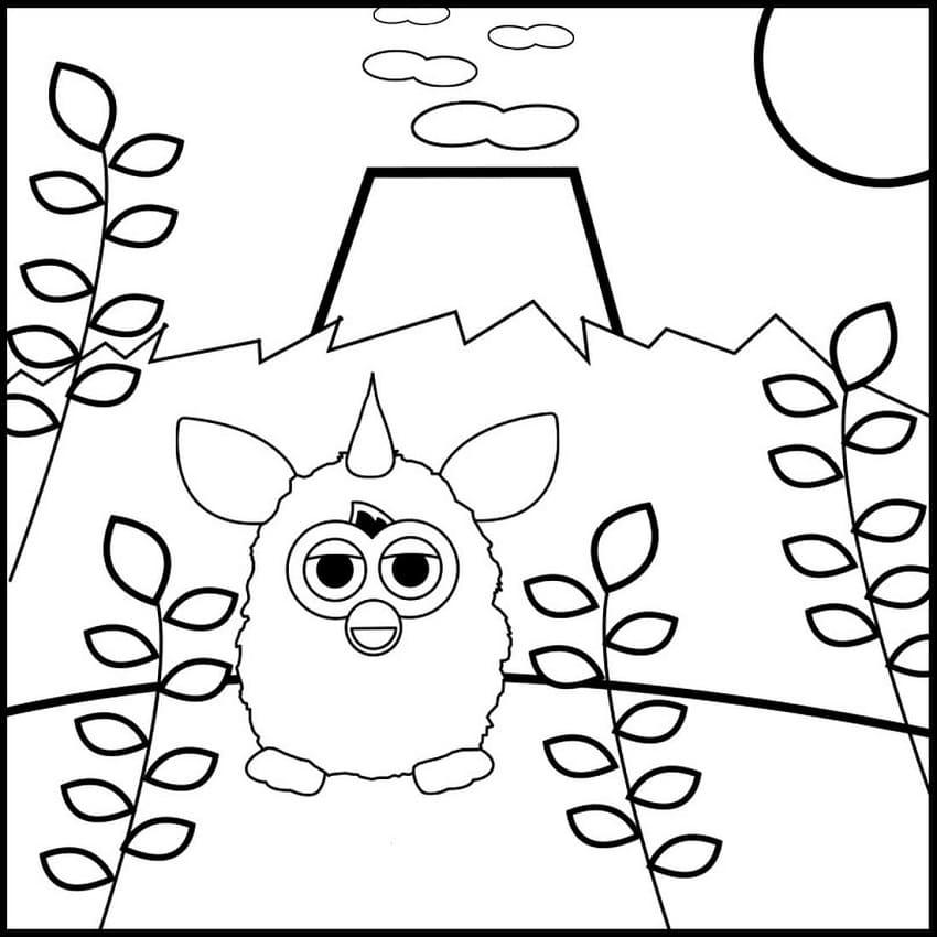 Furby and Volcano
