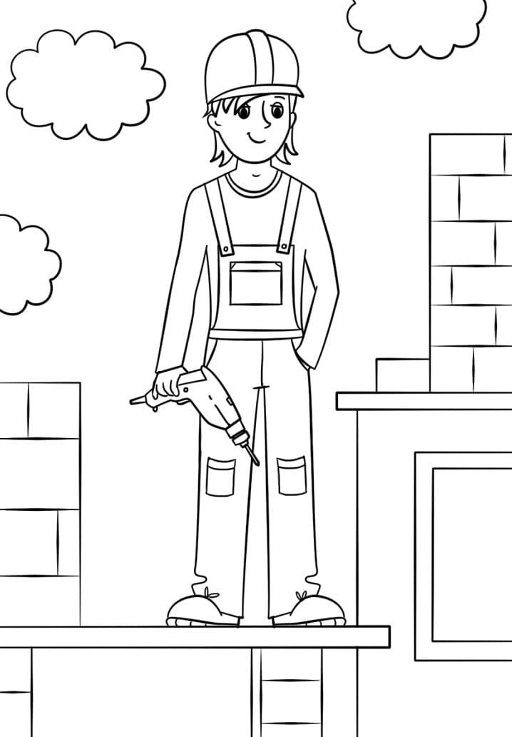 Girl Construction Worker