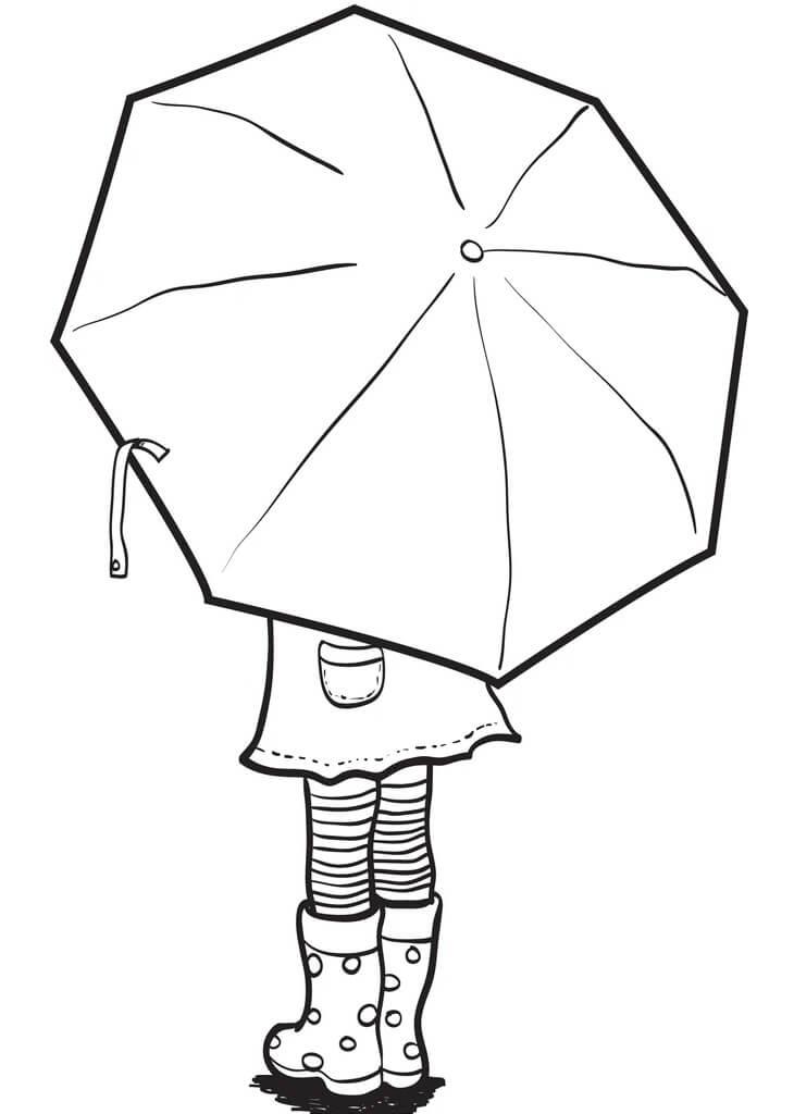 Girl Holding Umbrella
