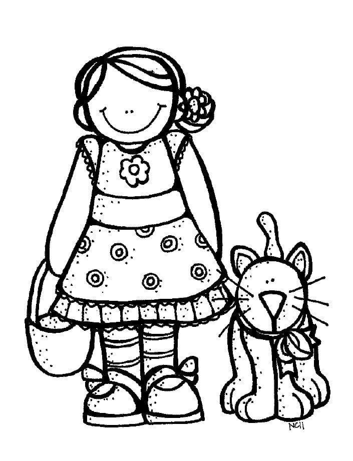 Girl and Cat Melonheadz
