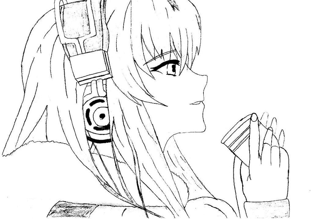 Girl and Headphones