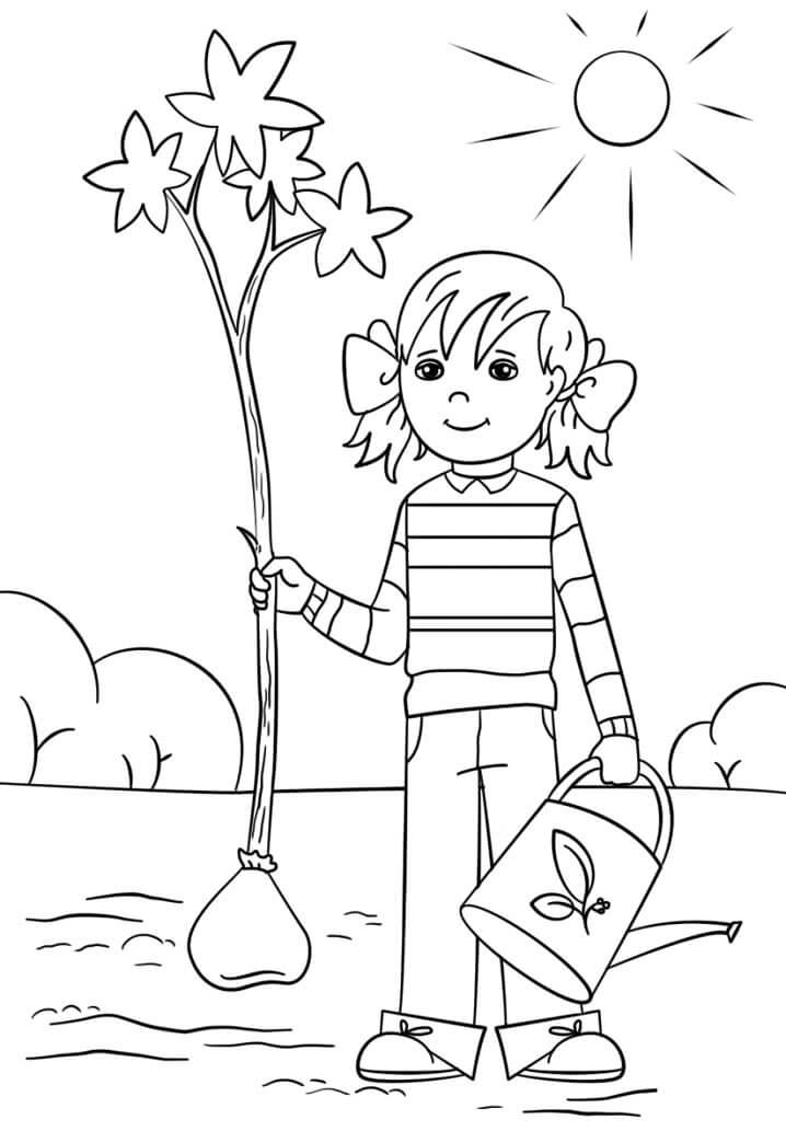 Girl in Arbor Day