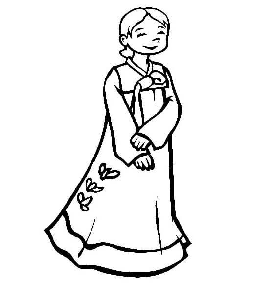 Girl in Hanbok