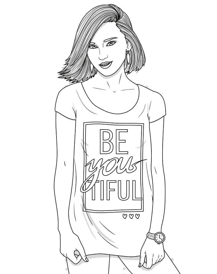 Girl in T-shirt