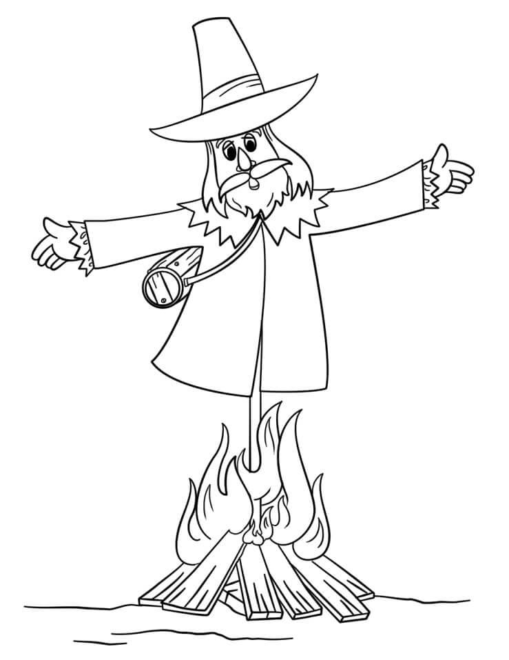 Guy Fawkes Effigy Burning