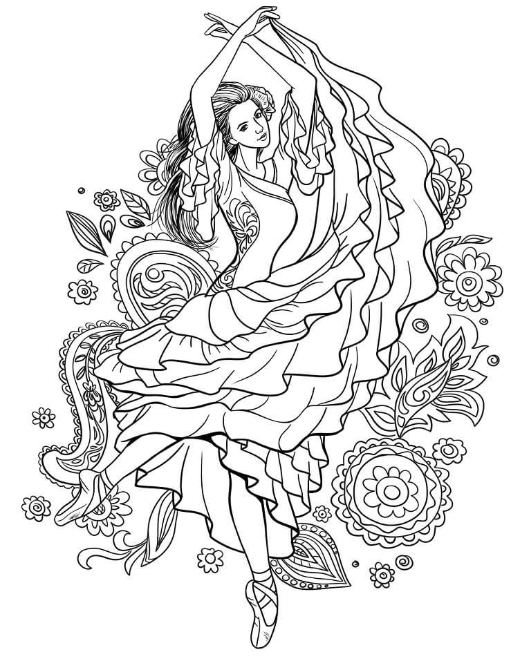 Gypsy Woman Dancing Carmen